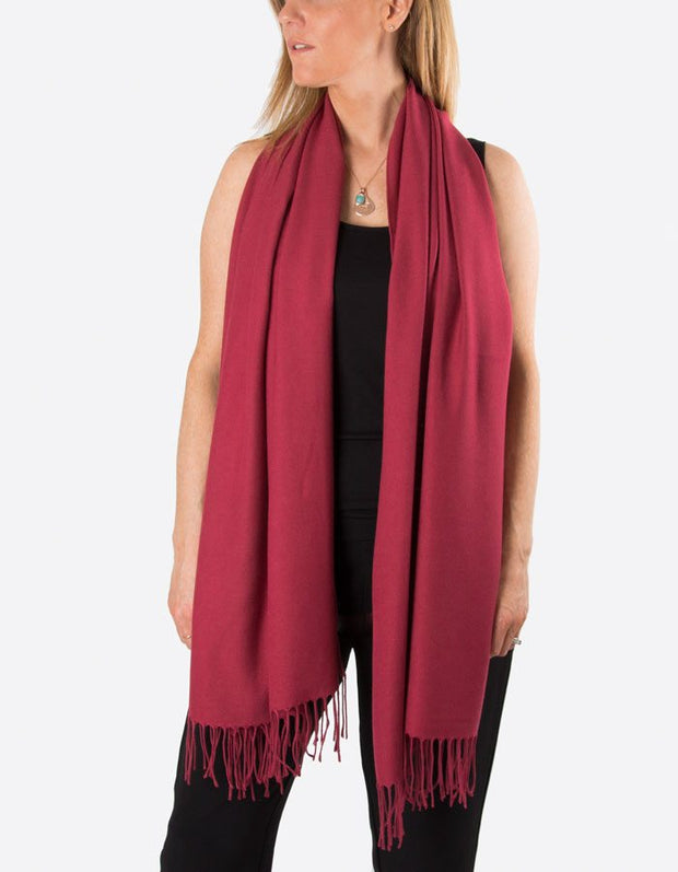 an image showing a mulberry red pashmina