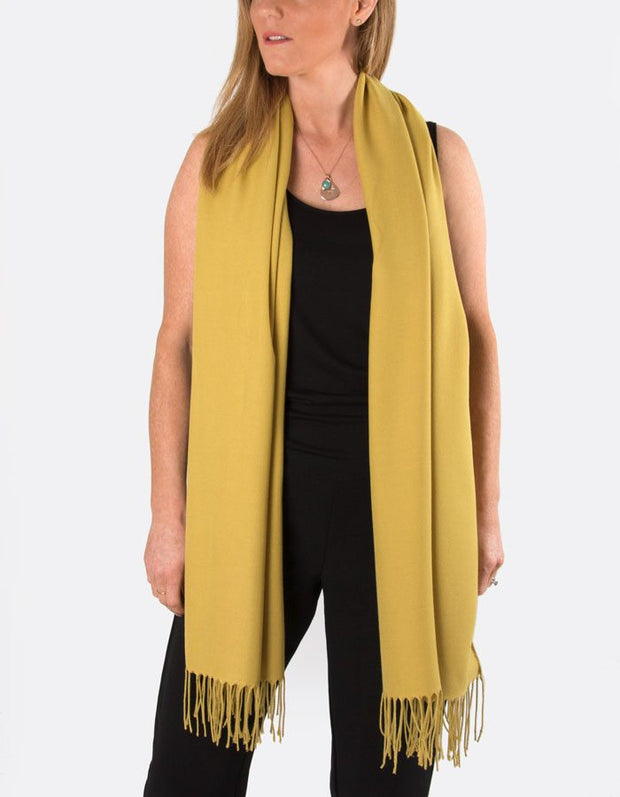 Image showing mustard yellow pashmina