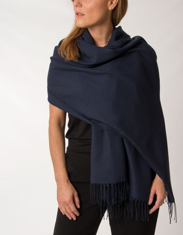 an image showing a navy pashmina