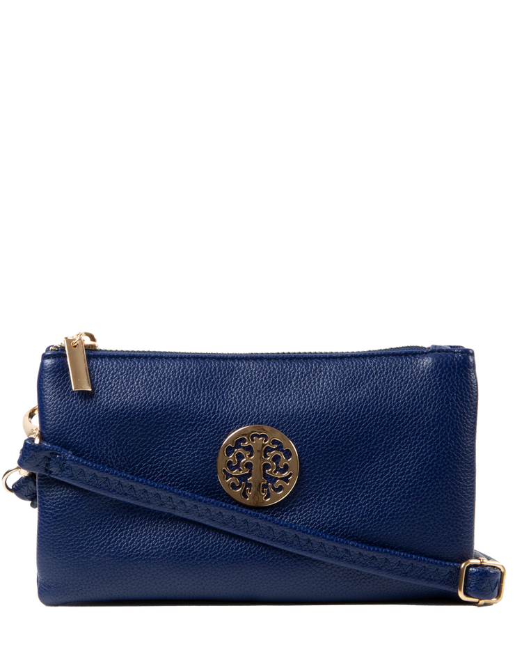Navy Clutch Bag | Toni