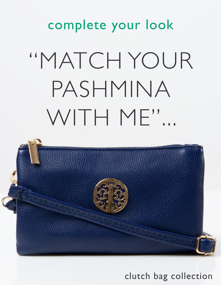 an image of a blue clutch bag