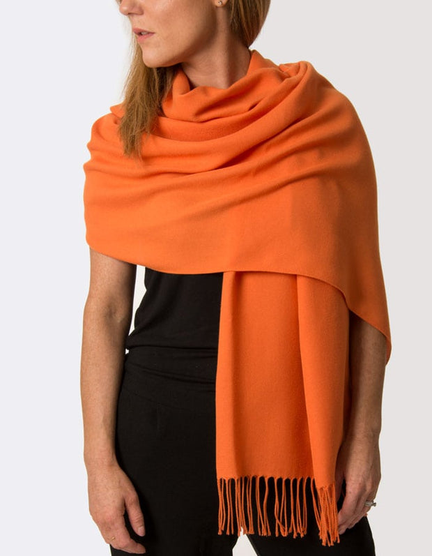 an image showing an orange pashmina