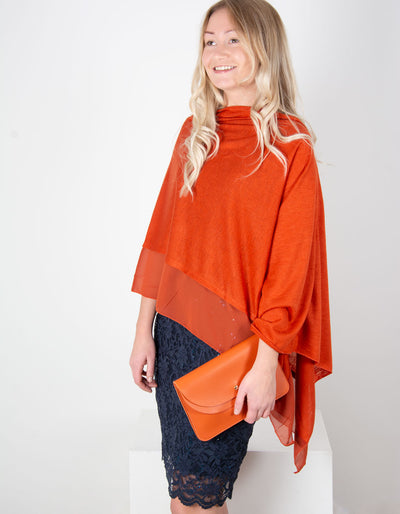 Orange Poncho