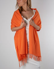 Orange Wedding Pashmina
