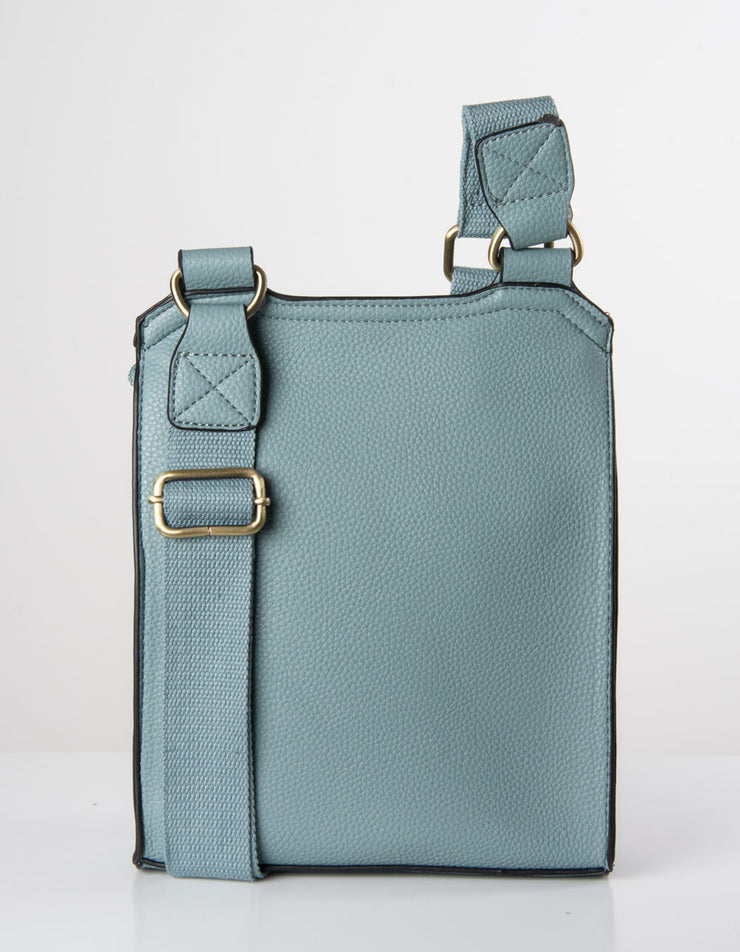 Pale Blue Messenger Bag