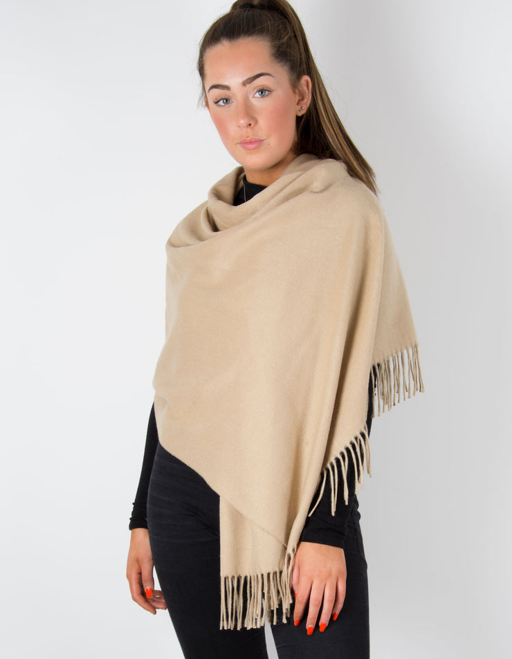 Pale Camel Winter Pashmina