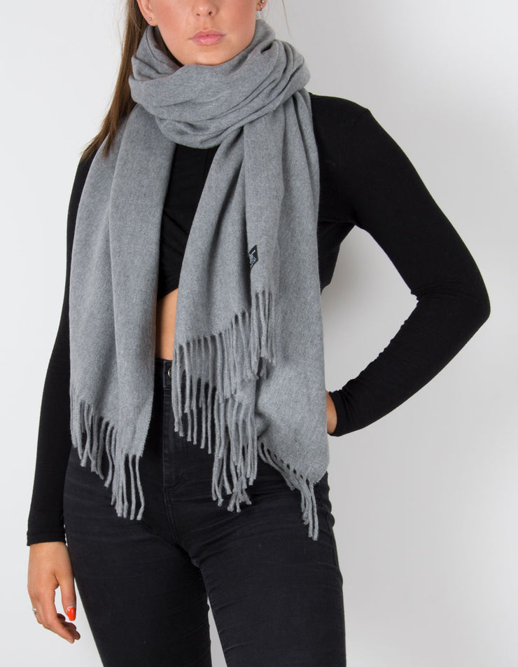 Pale Grey Blanket Scarf