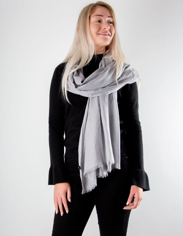 Pale Grey Lightweight Scarf Pashmina