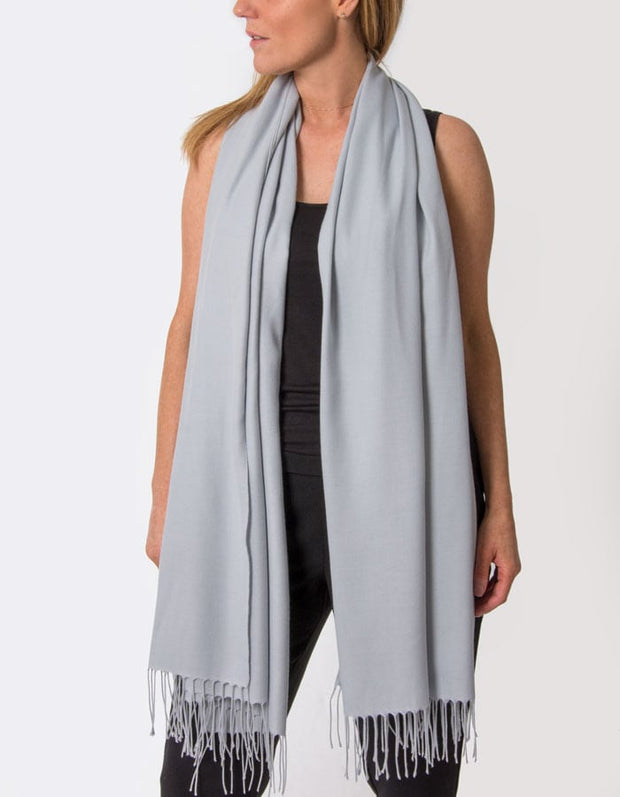 an image showing a pale grey pashmina