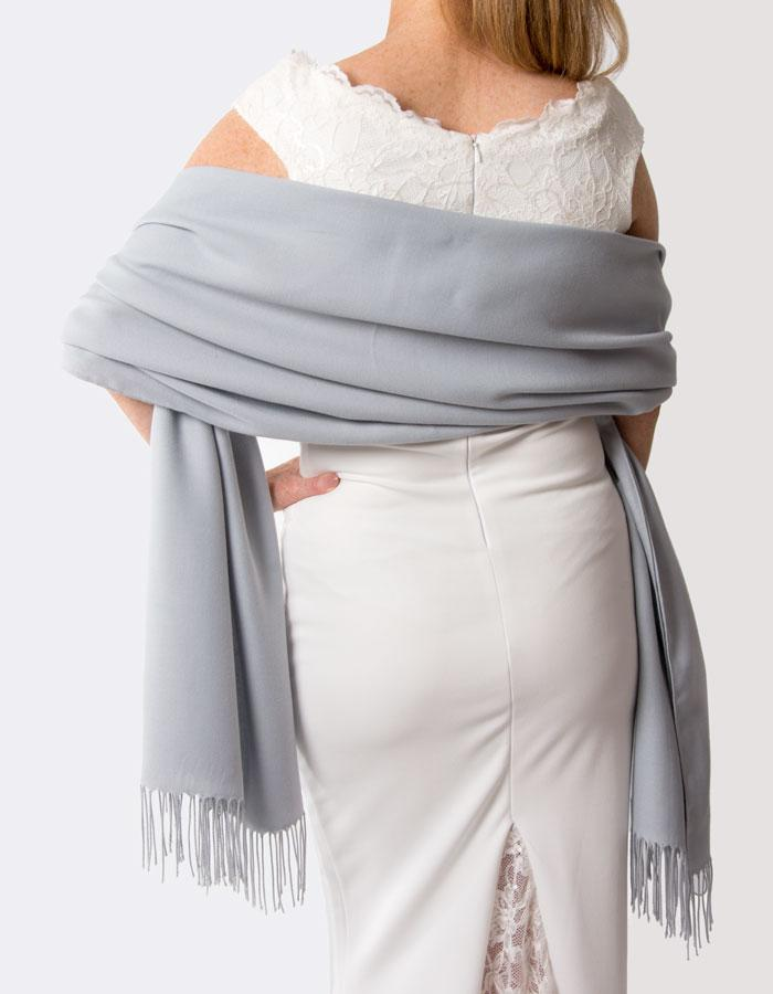 Silver Wedding Pashmina