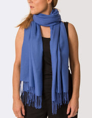 Image Showing Royal Blue Pashmina Shawl Wrap