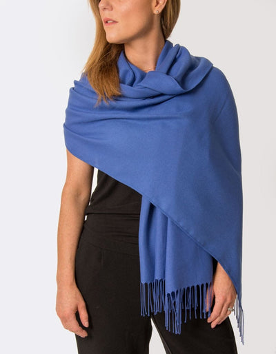 Image Showing Royal Blue Pashmina