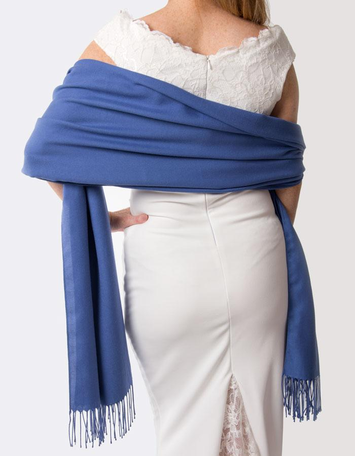 Royal Blue Wedding Pashmina