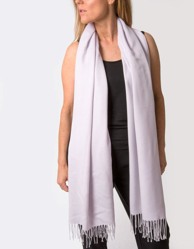 an image showing a lilac coloured pashmina