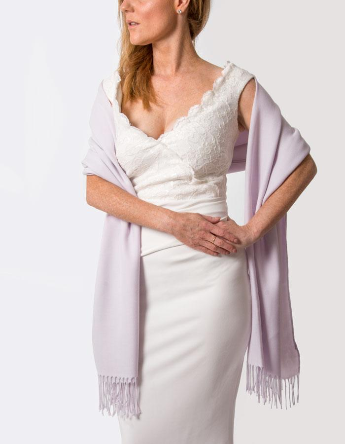 Lilac Wedding Pashmina - Made In Italy