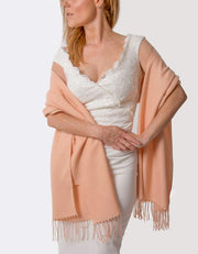 Peach Pink Wedding Pashmina