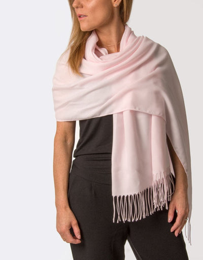 an image showing a petal pink pashmina