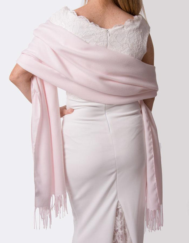 Petal Pink Wedding Pashmina