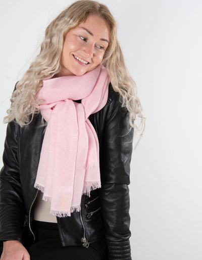 Pink Cashmere Scarf