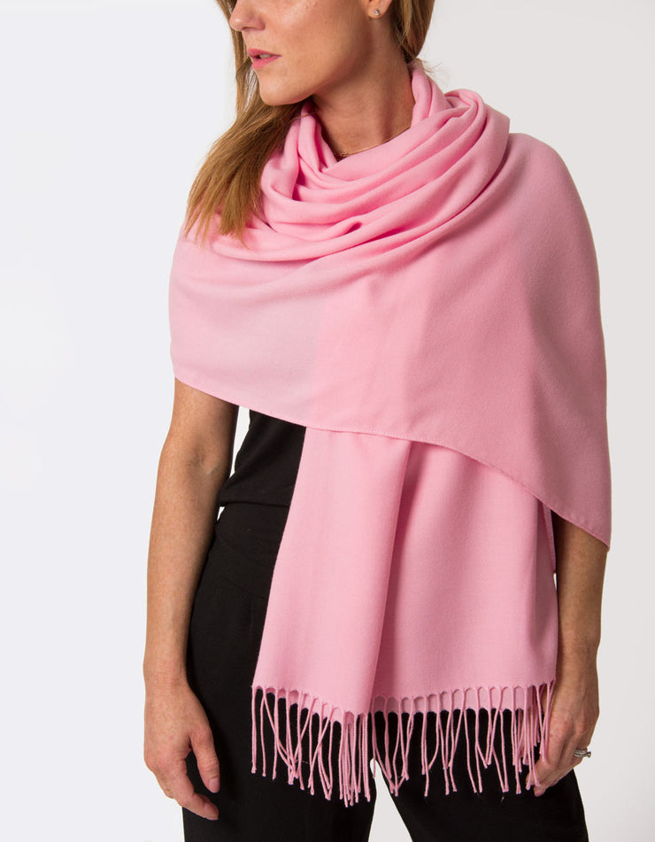 an image showing a pink lady pashmina
