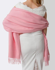 Pink Lady Wedding Pashmina - Made In Italy