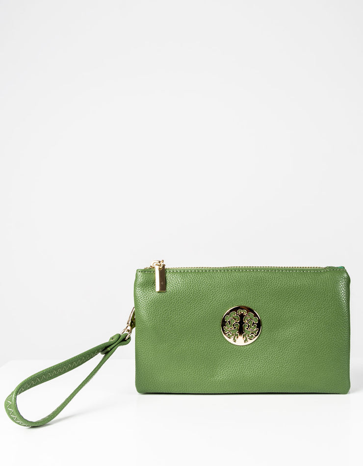 Pistachio Clutch Bag | Toni