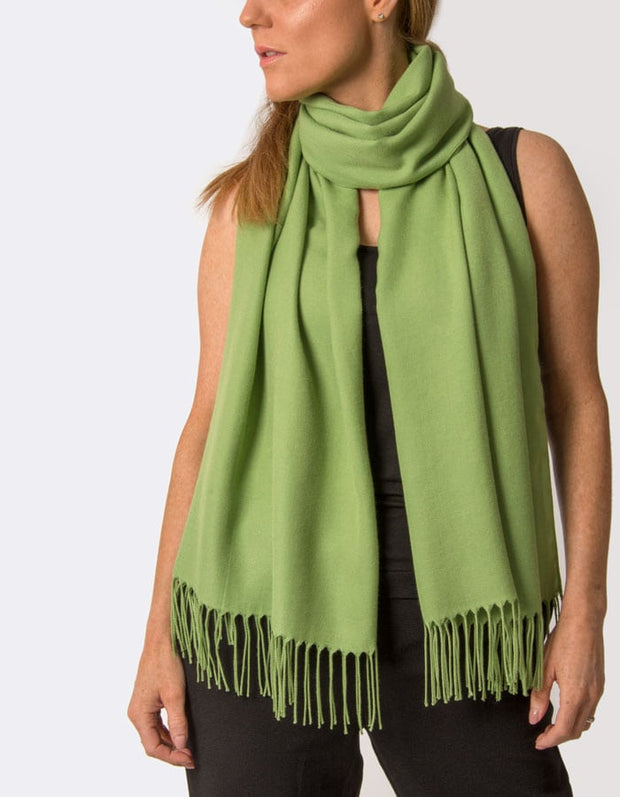 an image showing a pistachio green pashmina
