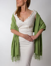 Pistachio Green Wedding Pashmina - Made In Italy