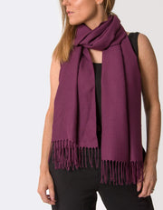 an image showing a plum coloured pashmina