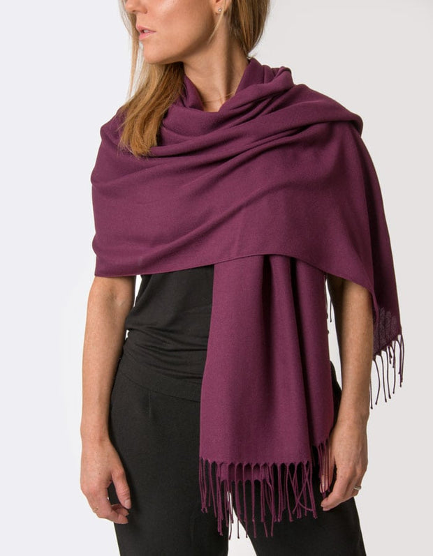 an image showing a plum purple pashmina