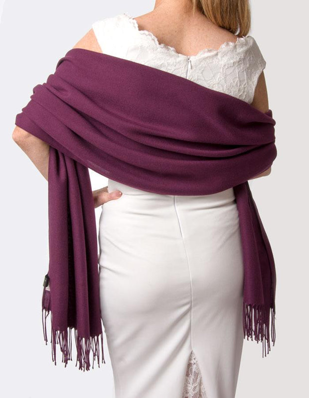 Plum Purple Wedding Pashmina