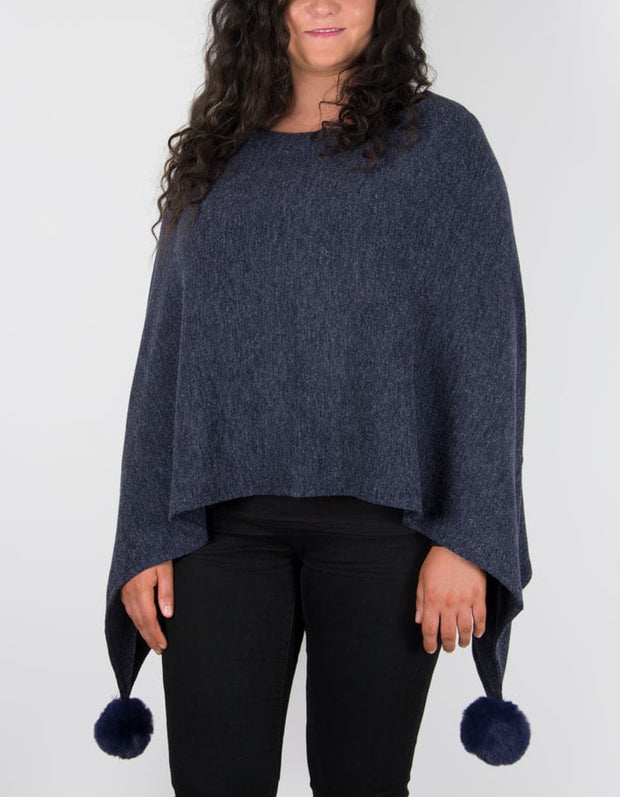 An image showing a poncho in navy