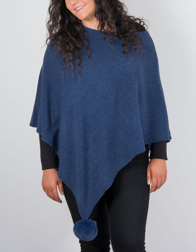 An image showing a poncho in Royal blue