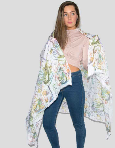 an image showing a tulip print scarf
