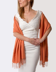Pumpkin Orange Wedding Pashmina