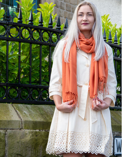 Pumpkin Orange Pashmina