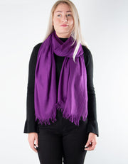 Purple Lightweight Scarf Pashmina