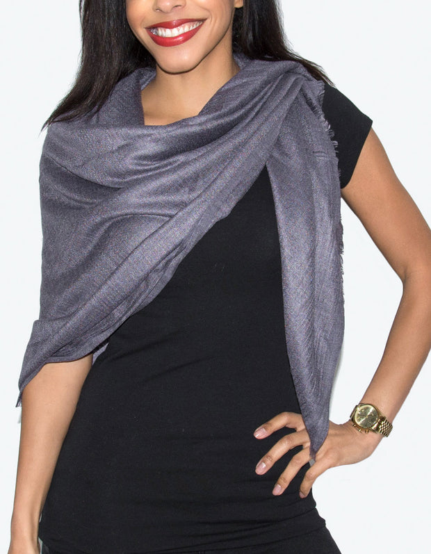 Oversized Pashmina Shawl Wrap Scarf - Purple