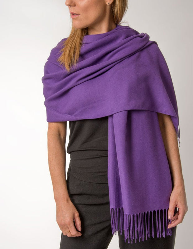 an image showing a purple pashmina