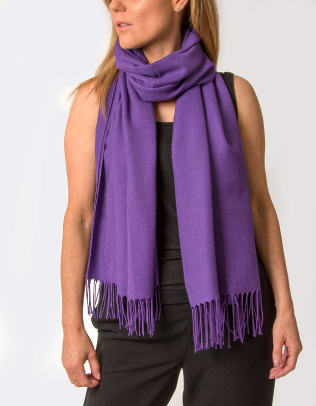 an image showing a purple coloured pashmina