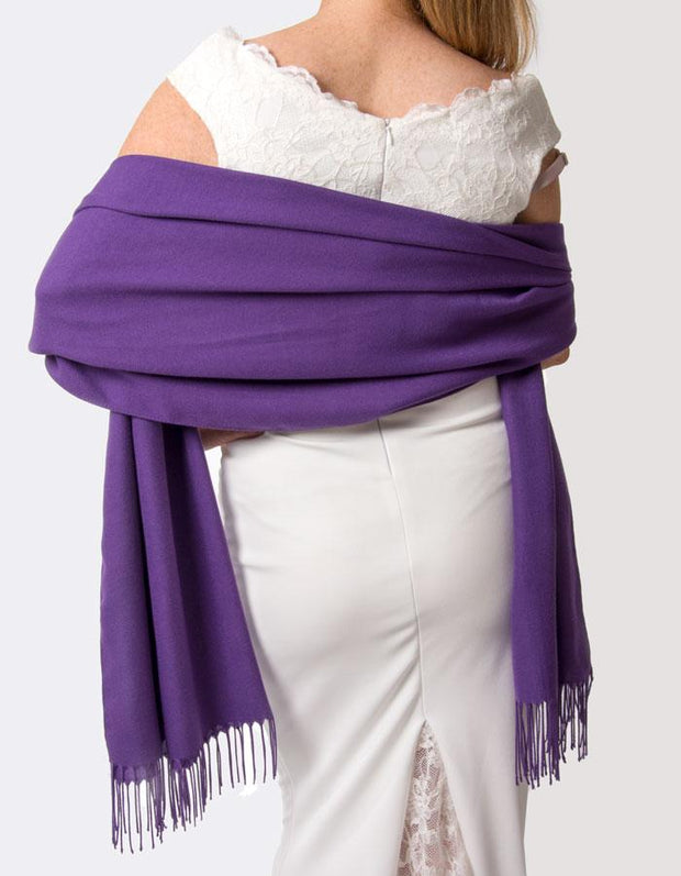 Purple Wedding Pashmina