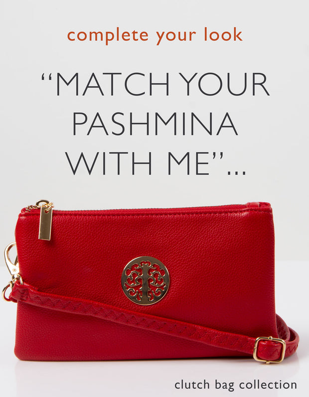 an image showing a red clutch bag