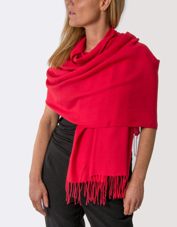 an image showing a red pashmina