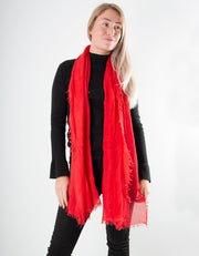 Red Scarf - Italian MicroModal