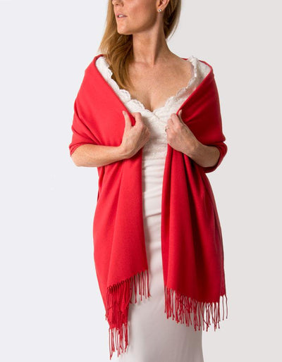 Red Wedding Pashmina - Made In Italy