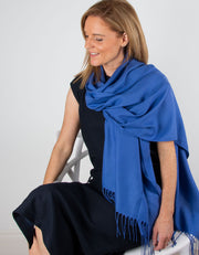 an image showing a royal blue pashmina