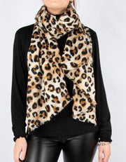 Frayed Edge Leopard Wool Mix