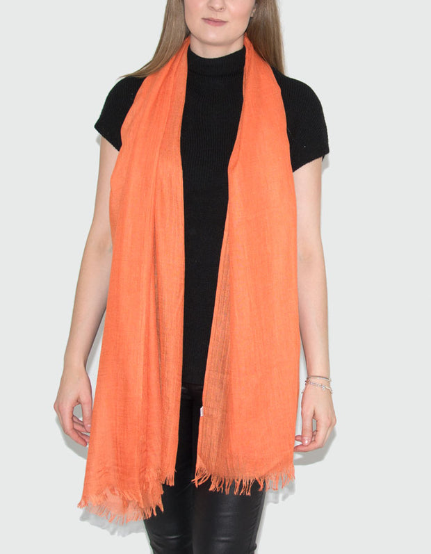 Orange Lightweight Scarf Pashmina
