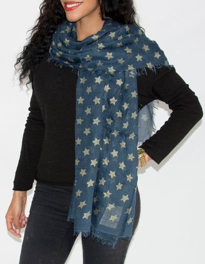 anm image showing a navy star scarf