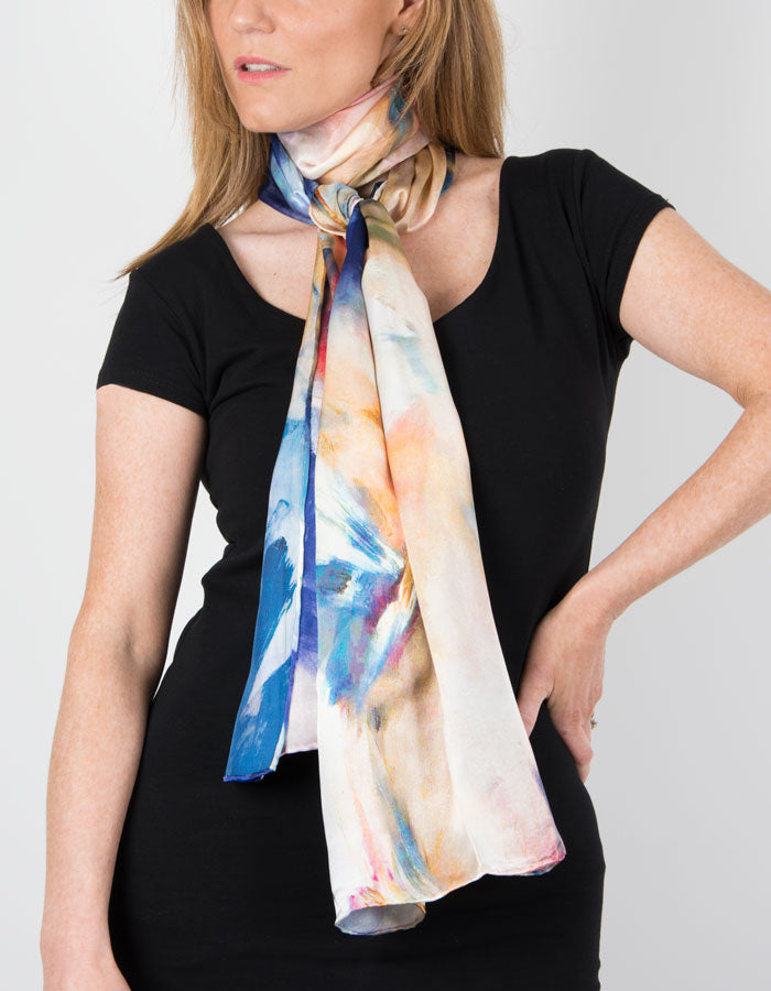 Image showing a Silk Scarf Brushstrokes